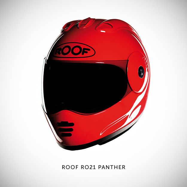 Roof motorcycle helmet