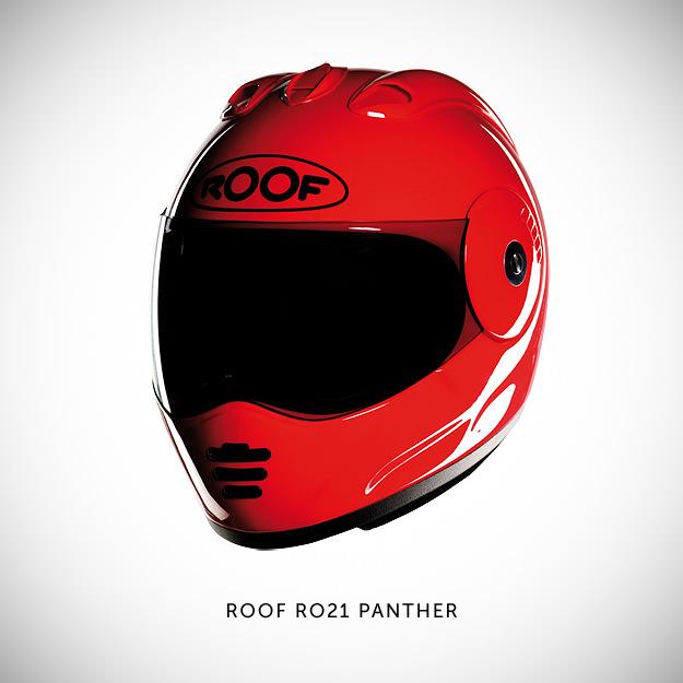 Roof motorcycle helmet
