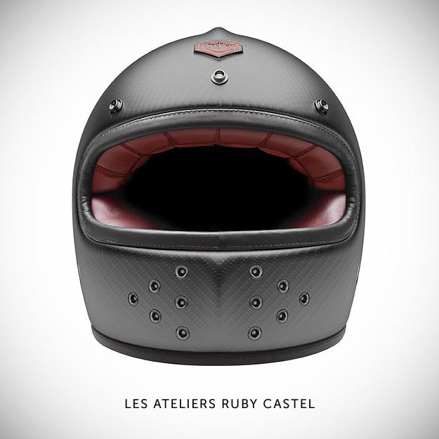 Ruby motorcycle helmet