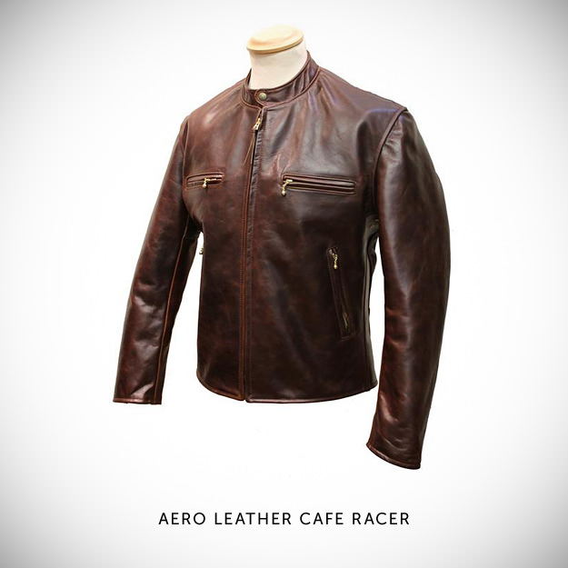 Aero Leather Jacket Cafe Racer
