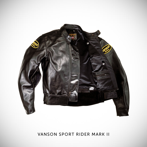 Vintage motorcycle jacket by Vanson