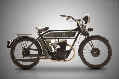 Vintage style motorcycle