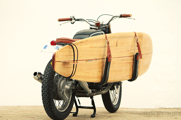 Surfboard motorcycle