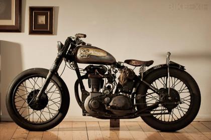 Custom BSA motorcycle