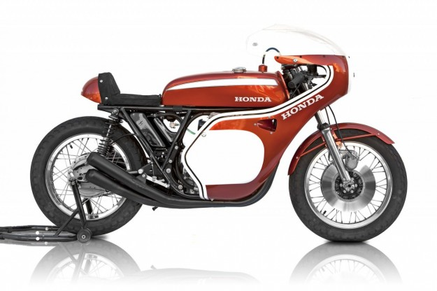 Honda CB750 Dick Mann replica