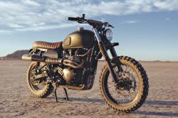 Triumph Scrambler by British Customs