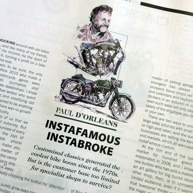 Instafamous, Instabroke: how custom motorcycle builders make money (or not).