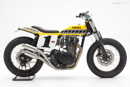 Yamaha XS650 dirt tracker by Jeff Palhegyi Design