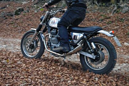 Moto Guzzi Nevada: custom scrambler designed by Filippo Barbacane of Officine Rossopuro