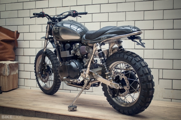 Triumph Scrambler 900 built by the German workshop Kingston Custom