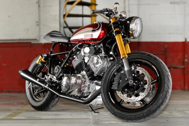 1995 Yamaha Virago XV750 customized by Greg Hageman.