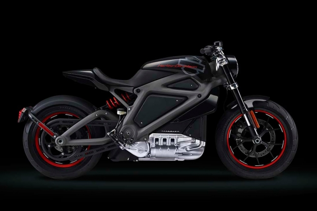 Harley-Davidson Livewire electric motorcycle concept.