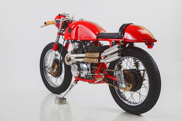 Jan Sallings' beautiful Honda 350 cafe racer.