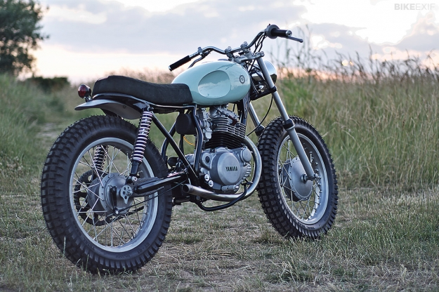 Yamaha SR250 cafe racer built by the English motorcycle workshop Auto Fabrica.