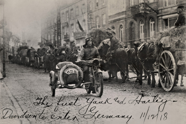 1918 Harley-Davidson motorcycle.