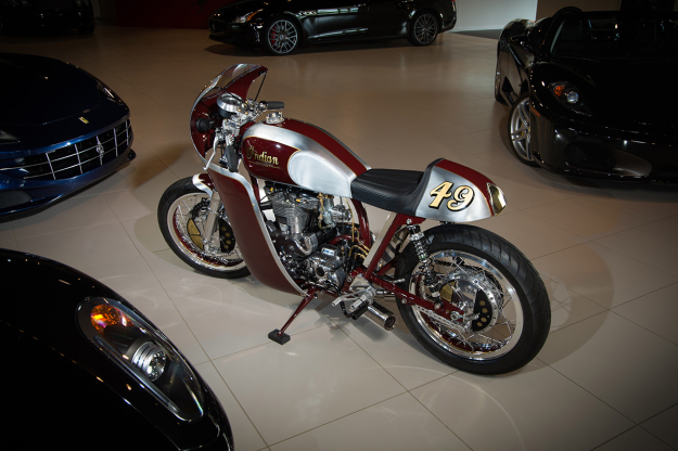 New from Analog Motorcycles: a custom 1940 Indian Scout