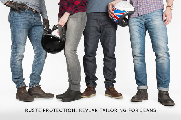 Kevlar tailoring for motorcycle jeans