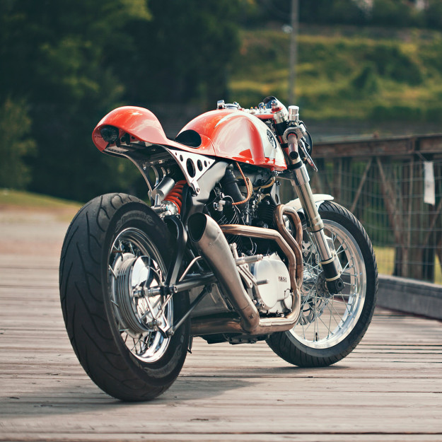 Ultra-clean custom Yamaha XV 750 by Christian Moretti of Plan B Motorcycles.