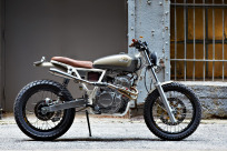 "Daniel Peter's customized Honda XR650 ""Cabin Fever""."