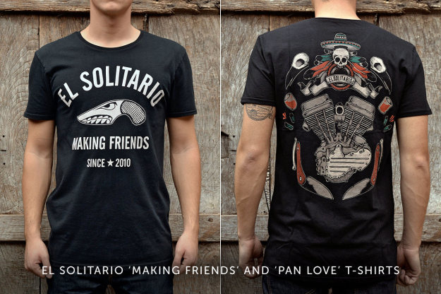 Motorcycle t-shirts by El Solitario