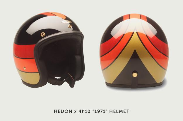 Hedon x 4h10 motorcycle helmet