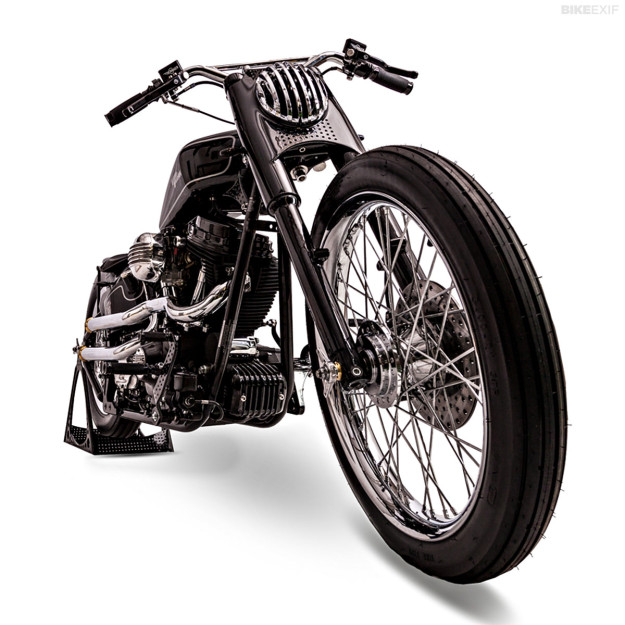 Harley Softail custom 'Brougham' by One Way Machine.