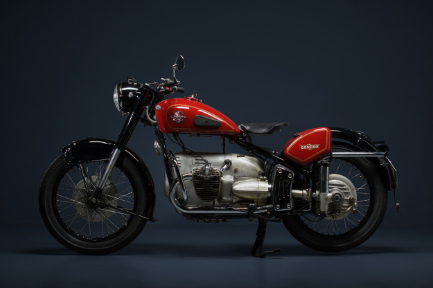 The rare Swiss-made Condor motorcycle, influenced by BMW and designed for the military.