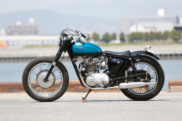 A Triumph T100 customized by Heiwa of Japan.