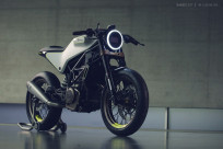 The Husqvarna 401 Vit Pilen 'White Arrow' motorcycle concept.