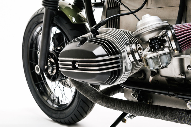 Custom BMW R80 monolever built by Urban Motor of Berlin.