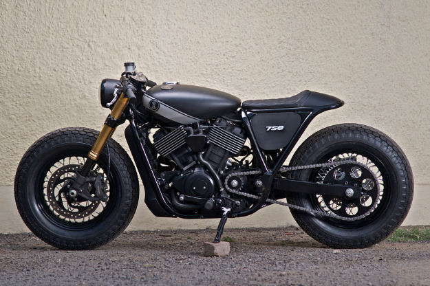 This cafe-style Harley-Davidson Street 750 comes from Rajputana Customs.