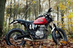 Dirty Sandy: 4h10's custom Honda dual sport