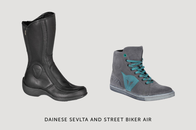 Women's motorcycle boots from Dainese.