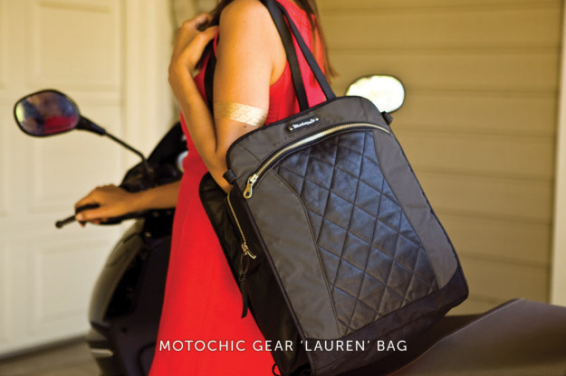 The super-stylish Moto Chic gear bag.