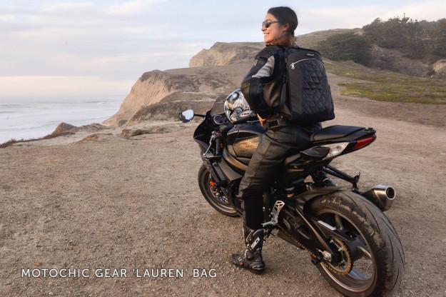 The super-stylish Moto Chic gear bag.