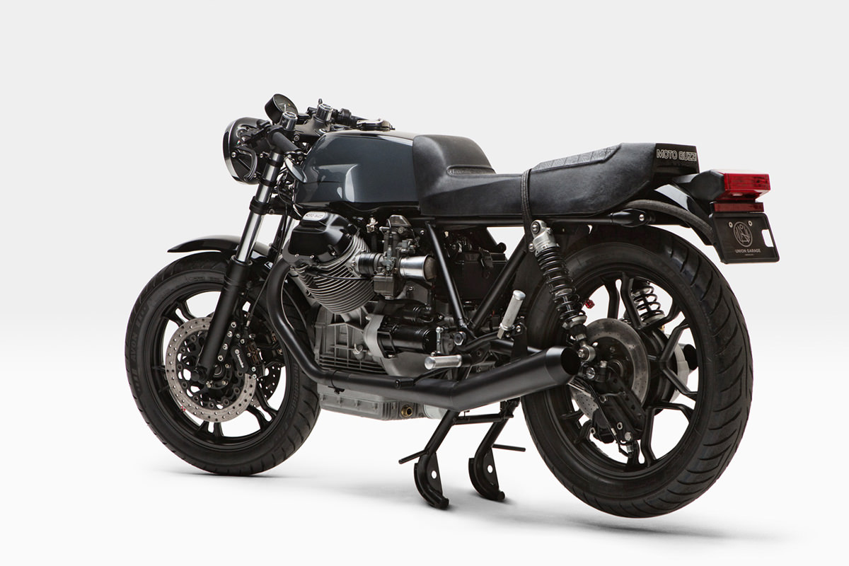 Sheer perfection: Moto Borgotaro's 1979 Guzzi LeMans cafe racer.