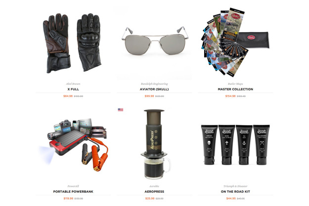 The Huckberry x Bike EXIF motorcycle gear store.