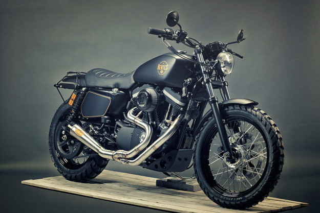 Stealthy: a Harley-Davidson Sportster 1200 custom built by Renard Speed Shop.