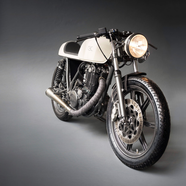 The cafe racer redefined: Yamaha's iconic SR500 through the eyes of industrial designer Patrick Frey.