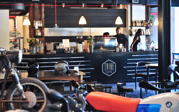 Donford Motorrad and Tribe Coffee Roasting in Cape Town.