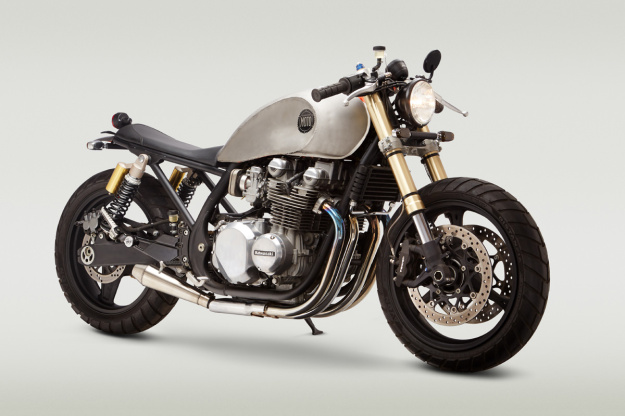 Classified Moto's radical Kawasaki custom—complete with Suzuki GSX-R front end.