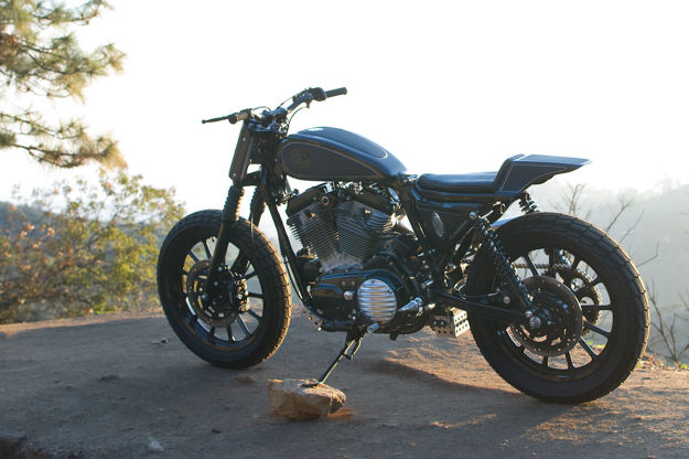 Pata Negra: Speed Merchant's 'Black Pig' is a custom Harley Sportster with a tracker vibe.