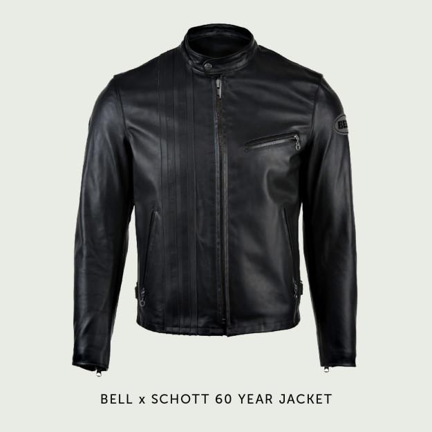 Bell x Schott motorcycle jacket.
