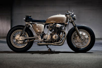 A bobber-influenced Honda CB750 custom from Canada's Clockwork Motorcycles.