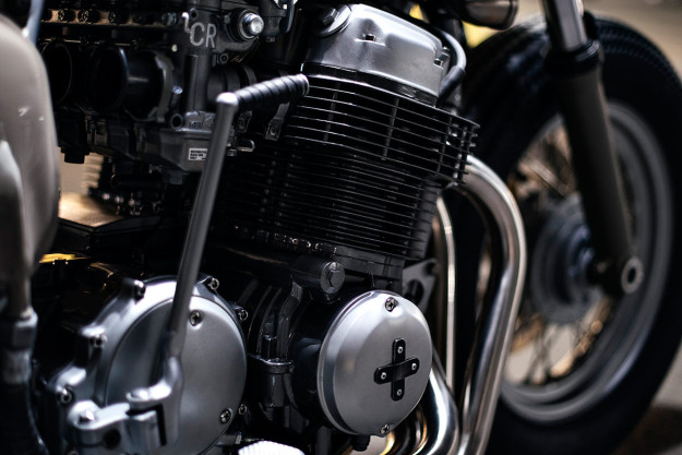 A bobber-influenced Honda CB750 custom from Canada's Clockwork Motorcycles.