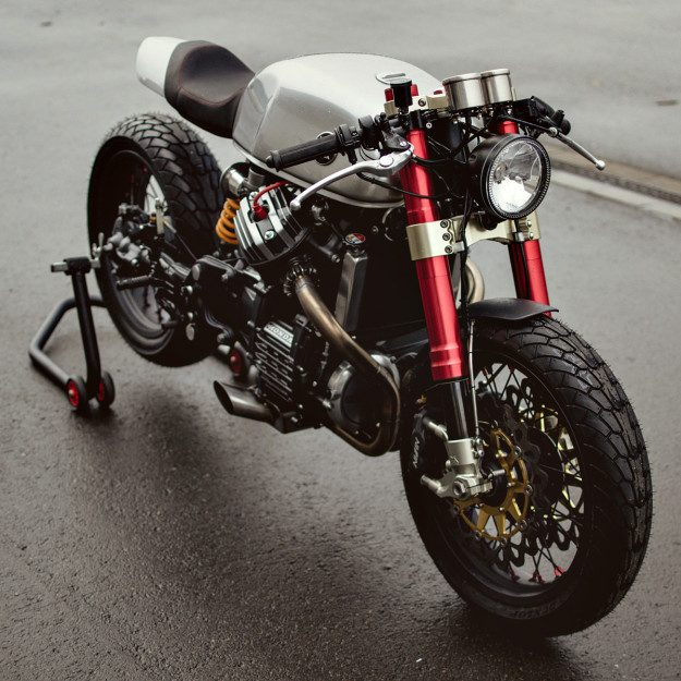 Sacha Lakic's high-performance Honda CX500 cafe racer.