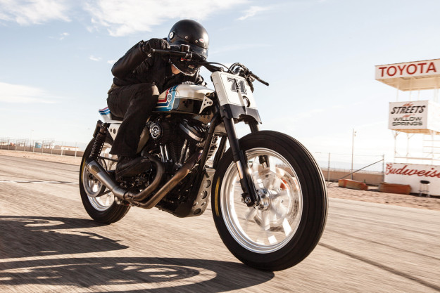 The Roland Sands Design Ameri-Tracker: a vintage-themed flat tracker based on the Harley Sportster.