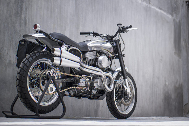 Benjie Flipprboi of BCR has turned the Harley 883 into a super-stylish, high-performance scrambler.