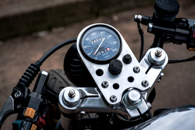 Wolf Moto's slick Moto Guzzi LeMans custom.