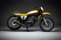 Channeling Kenny Roberts: Gasolina's tracker-style SR400 custom, Indy Mile.
